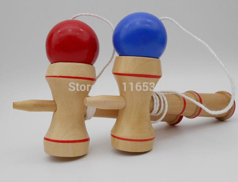 Freeship6 sets wooden small kendama bilboquet set kids children teenage adult PE physical training team sports activity game toy