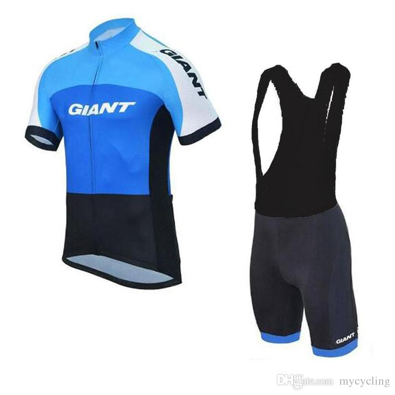 2018 men Cycling Jersey Set giant Bike Clothing Ropa Ciclismo Short Sleeve Breathable 100% Polyester Ropa Ciclismo racing Sportswear C2907