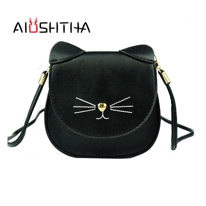 2019 Fashion Children Bags Handbags Girls Cat Cross Body Shoulder Bag Of  Famous Brand Kids Kawaii Cute Women New Year Christmas Present Gift Branded  Bags ... aafd96196ace3