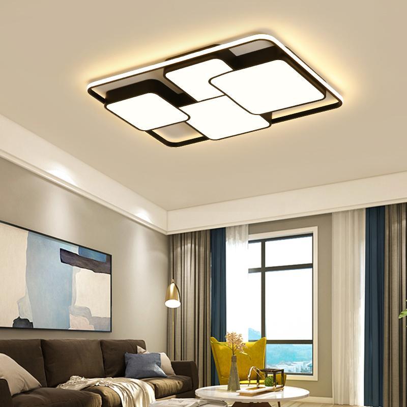 Großhandel Rechteckige Moderne LED Deckenleuchten Wohnzimmer ...
