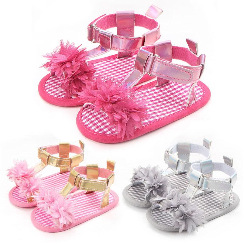 Fashion Lovely Baby Girls Summer Shoes First Walkers Flowers Toddler Infants Princess Shoes