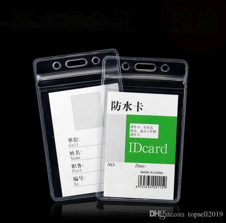 8da7c1c5fa0 2019 Transparent Vertical 68X110mm Soft Waterproof ID Badge Holders PVC Name  Card Case Certificate Plastic Horizontal SN1019 From Topsell2019