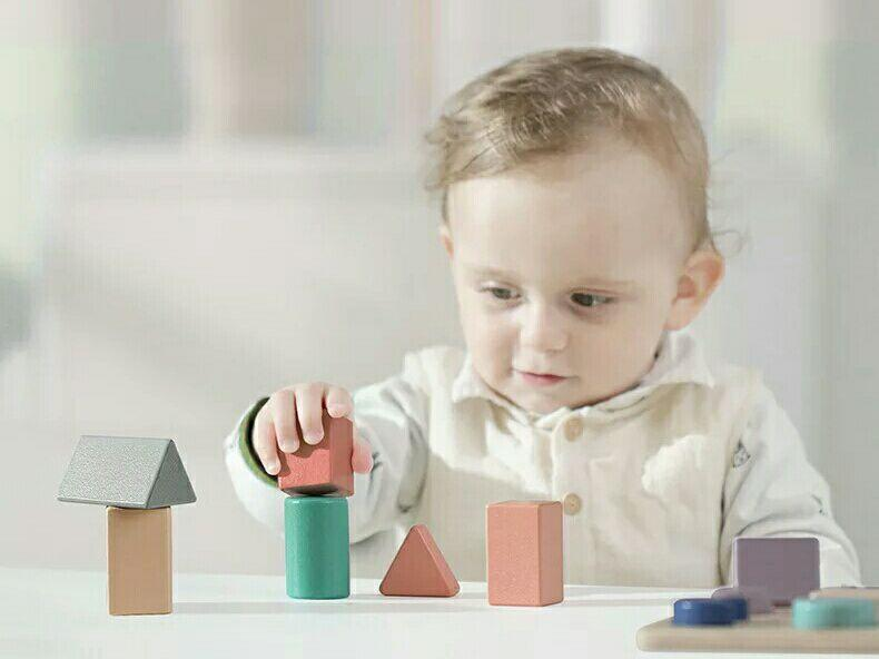 Educational Toys Age 2 : Baby wood block wooden baby shape matching 1 2 3 years of age