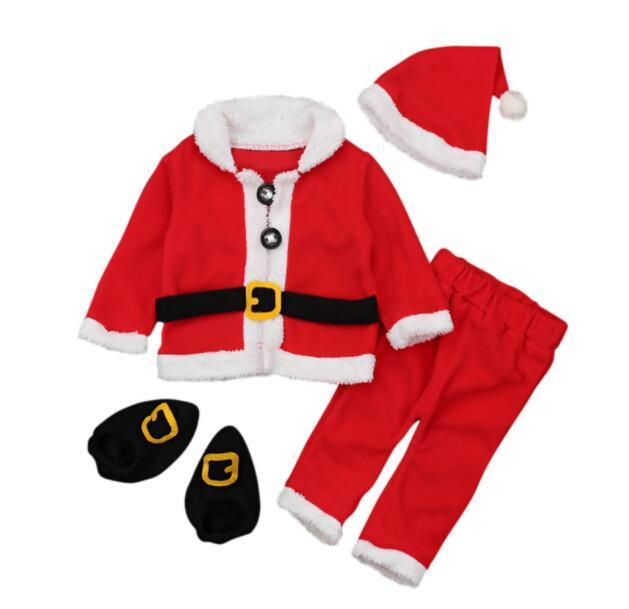 5fd3833d3136 Newborn Boys Girls Christmas Santa Claus Infant New Year Clothes Santa  Christmas Tops Pants Hat Socks Outfit Set Costume Clothing Sets Cheap Clothing  Sets ...