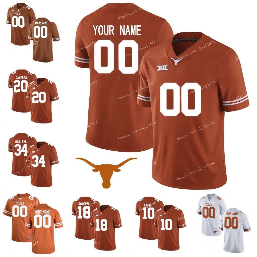 the latest 6dd78 acf67 Custom Texas Longhorns #25 B.J. Foster 31 DeMarvion Overshown 7 Caden  Sterns 14 Joshua Moore Stitched NCAA College Football Jerseys S-3XL