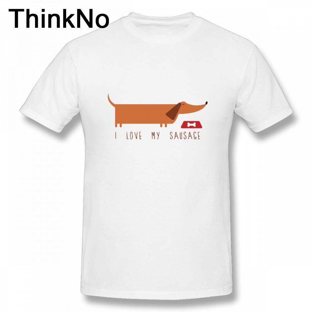 4114617be Boy I Love My Dachshund T Shirt Pet Dags Camiseta Funny Casual Nice Short  Sleeved Fashion Formal Shirts Denim Shirts From Aringstore, $24.2|  DHgate.Com