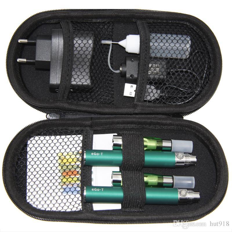 2018 Double Ego CE4 Kit Electronic Cigarette Starter Kit Ecig E-Cigarette Zipper case 2 Atomizers 2 Battery 650mah 900mah 1100mah hot sell