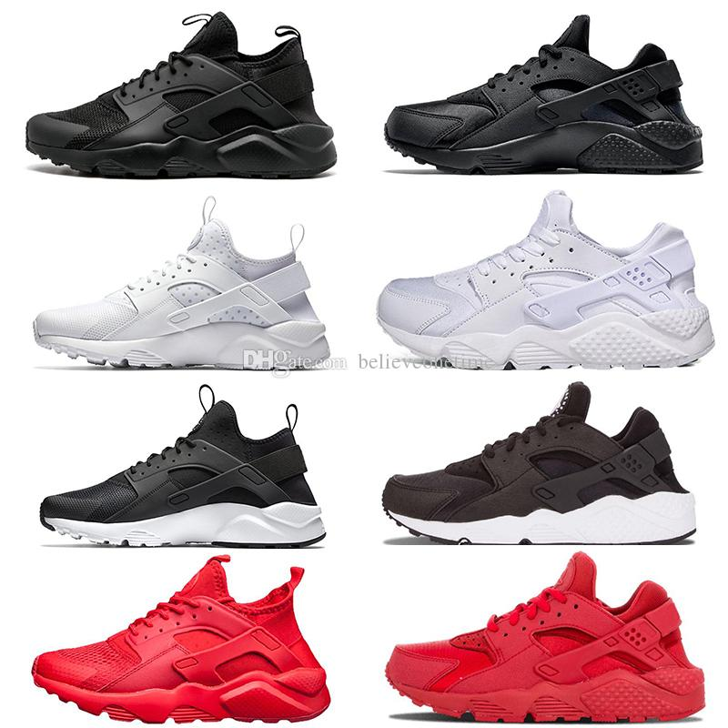 Huarache 4.0 1.0 Classical Triple White Black Red Men Women Huarache Shoes  Huaraches Sports Sneakers Running Shoes Size Eur 36 45 Running Shoes Women  ... 4ec1fface