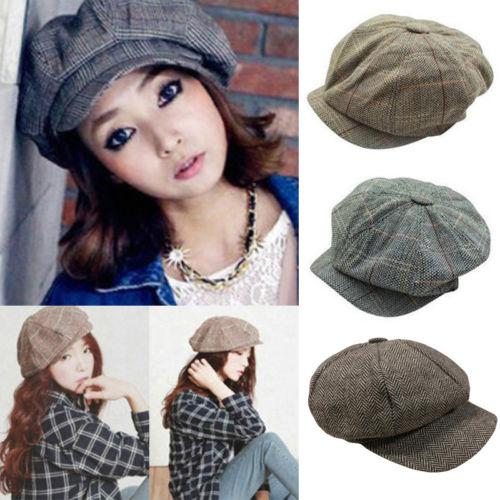 f12bc89a8d2 New Winter Unisex Beret Hat Women Men Casual Octagonal Cap Beret ...