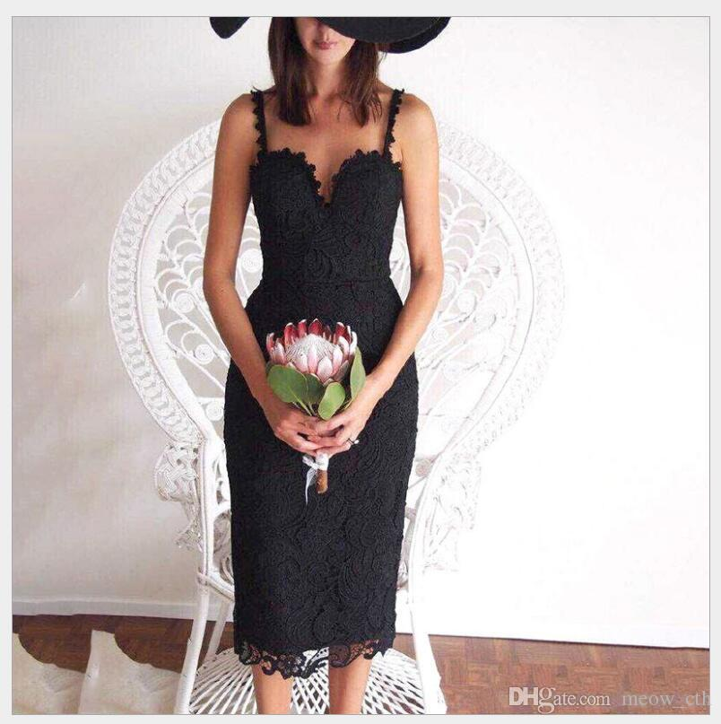 2018 Sexy Red Lace Party Skater Dress Women Hollow Out Nude Black elegant A-Line Dresses Ladies Sleeveless Midi Beach Dress