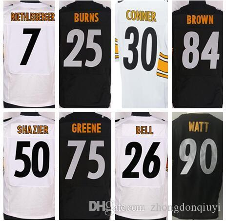 Pittsburgh Steelers 7 Ben Roethlisberger 26 Bell Jersey 84 Antonio ... d13363e64