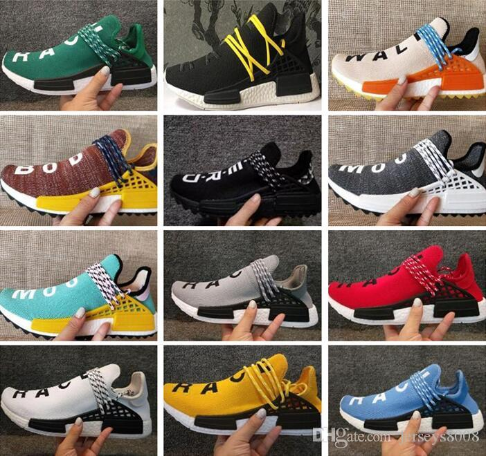 (with box)Wholesale Human Race Pharrell Williams Hu trail NERD Men Womens Running Shoes white noble ink core Black Red sports Shoes sneaker sale official site clearance best seller cheap order outlet 2014 unisex footaction online wbWU42
