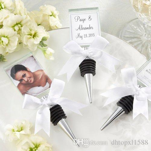 Hot Crystal Photo Frame Bottle Stopper Wedding Favors And Gifts Wine ...