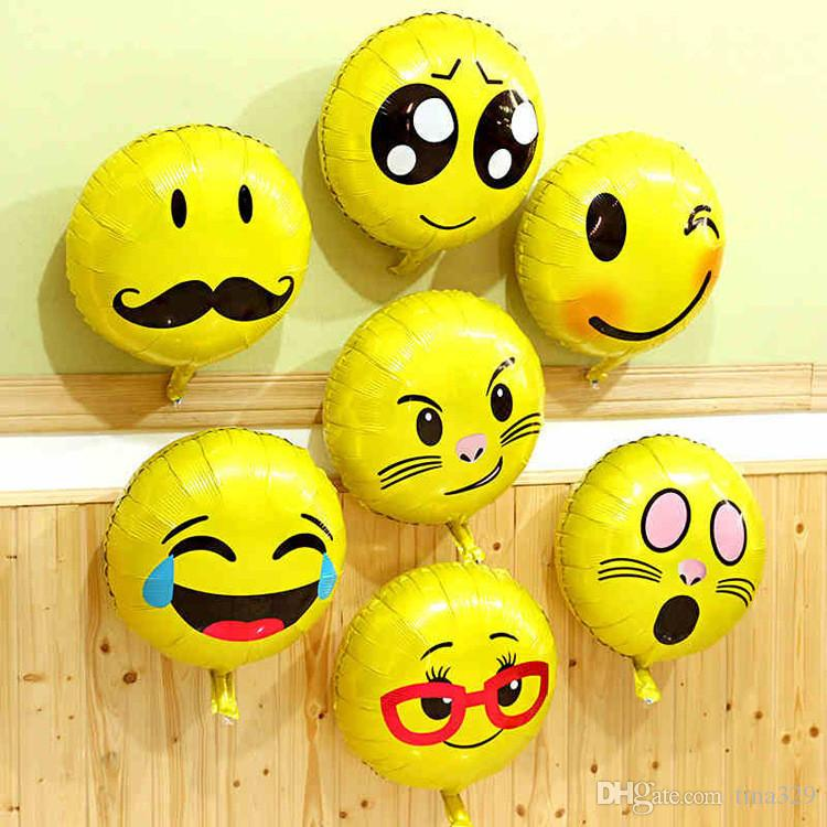Inflatable Balloons Balls for Favor emoji ballon Expression Latex Party Air Balloon decoration Ornament Birthday party balloon T1I195