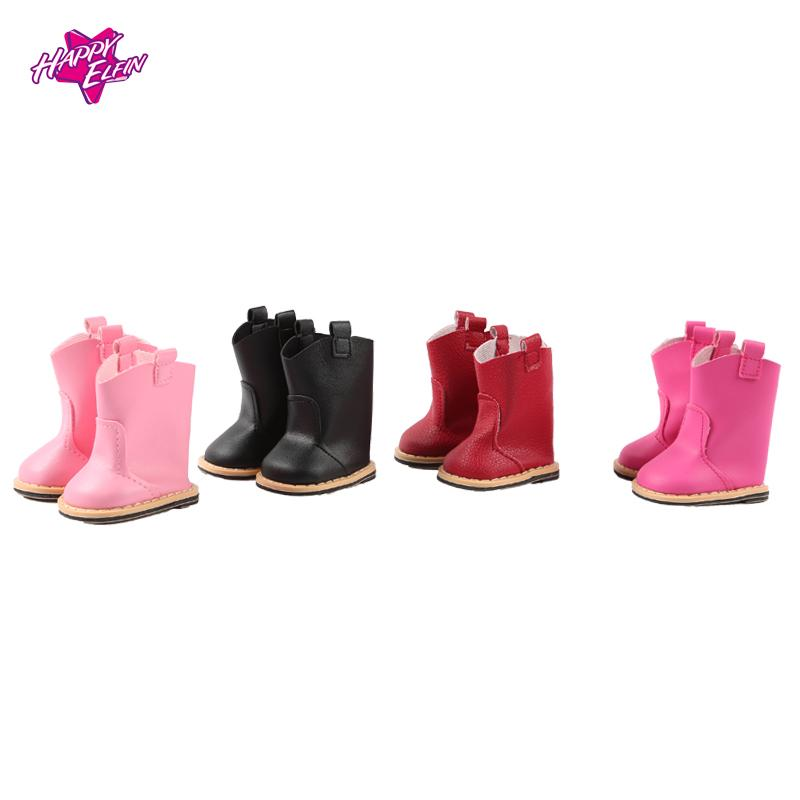 7cm doll shoes Lace Up PU Martin Boots Shoes Mini Toy Shoes1/6 For Zapf Baby Born American girl Doll Accessories