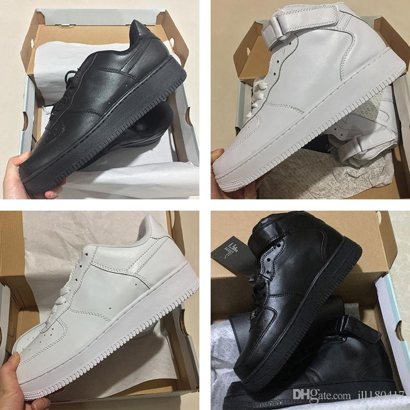 super popular 60b7b 69f0d Acheter 2018 Printemps Nouveau Nike Air Force 1 ID Basse Haute Mid 07 Ultra  Formateurs Hommes Femmes Low Cut Blanc Noir Chaussures De Course En Plein  Air Un ...