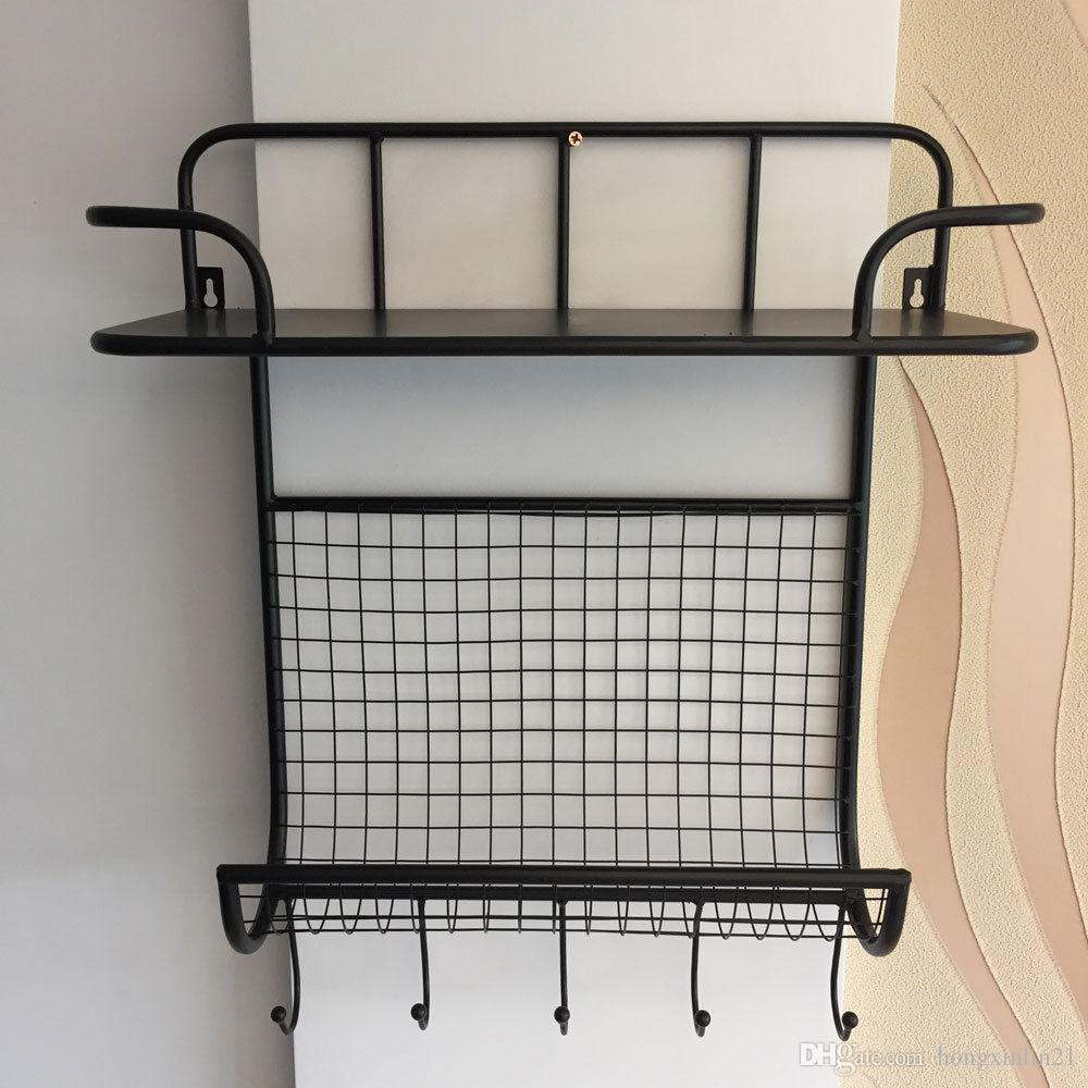 2019 Key Letter Holder Mail Wall Mount Metal Rack Organizer Office
