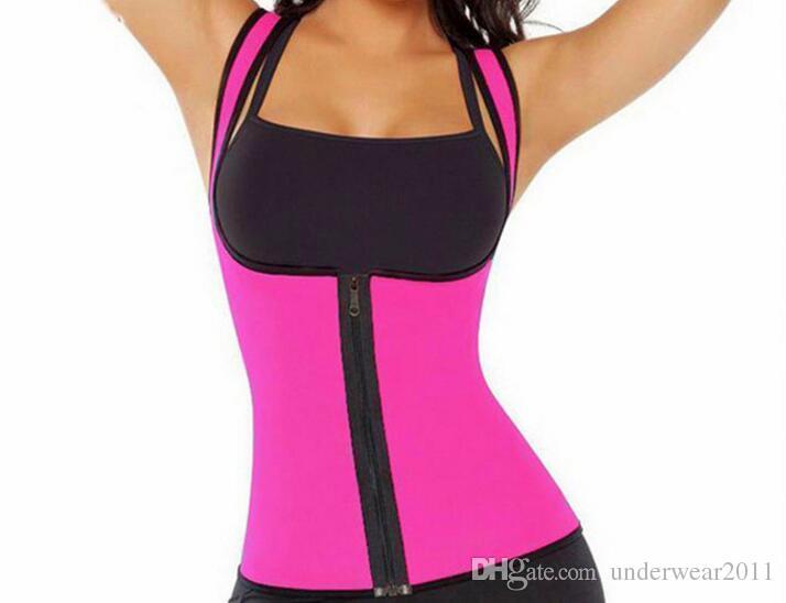 e5a46e122e 2019 Wholesale Woman Weight Loss Sweat Vest Zipper Body Shaper Neoprene  Slimming Vest Shaperwear Slim Corset Seller Free DHL FEDEX A127 From  Underwear2011