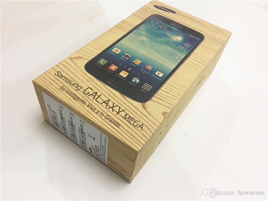 Ricondizionato Originale Samsung Galaxy Mega 6.3 i9200 Dual Core da 1,5 pollici da 1,5 GB di RAM 16 GB ROM 8MP 3G sbloccato Smart Mobile Phone DHL libero 1 pz