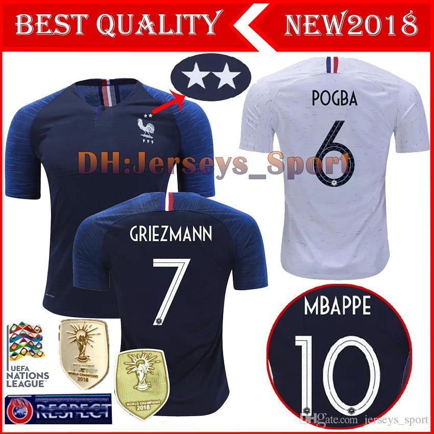 909ee3492 2 Stars Thailand GRIEZMANN MBAPPE POGBA Soccer Jerseys 2018 World Cup Shirts  DEMBELE MARTIAL KANTE Jerseys Football GIROUD Maillot De Foot GRIEZMANN  Soccer ...