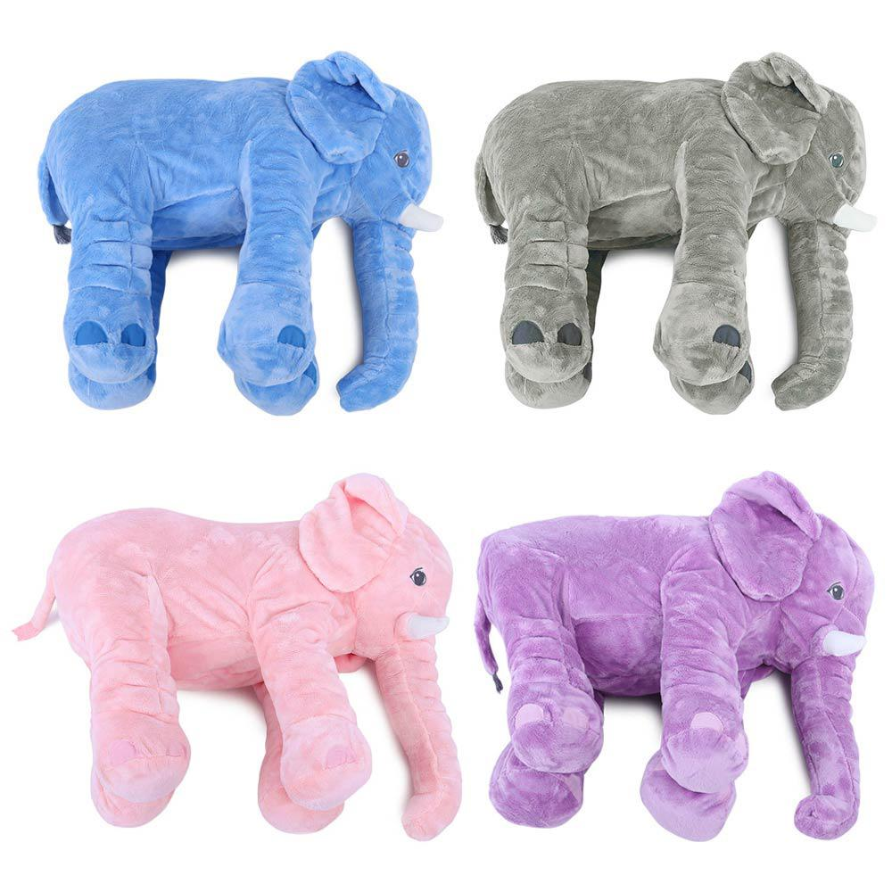 1pc Elephant Plush Toys Placate Doll Stuffed Cushion Baby Nursing Pillow Home Decor Adults Child Kids Stuffed Gift 4 Colors Attractive Designs; Toys & Hobbies