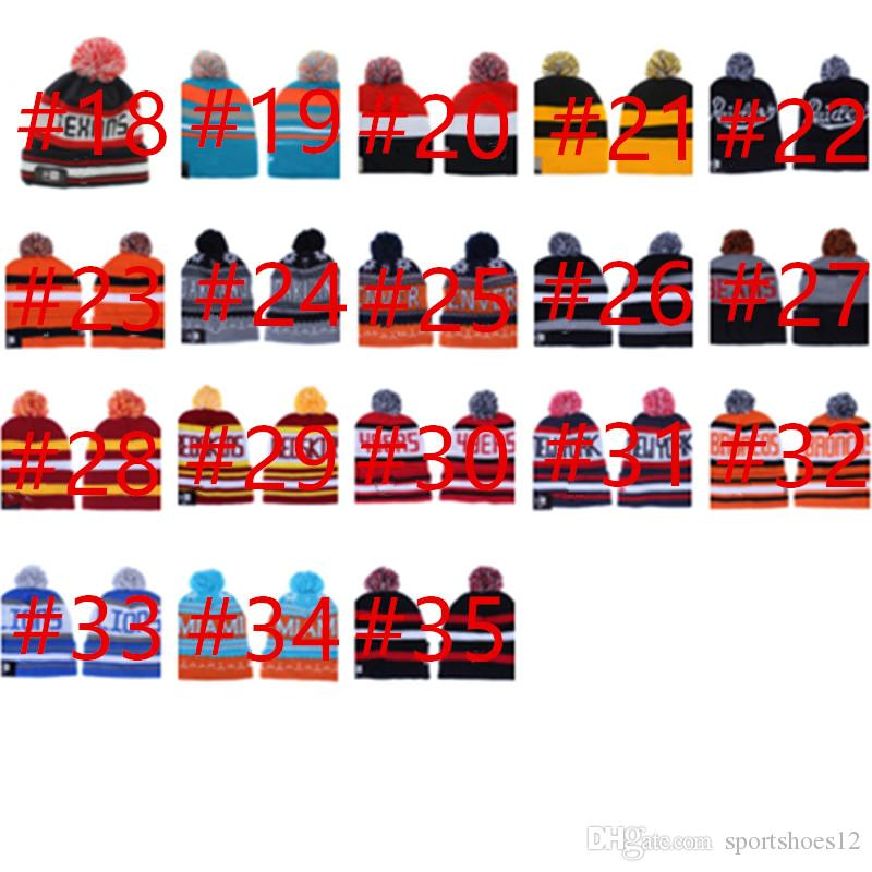2018 Wholesale 32Team Cap Beanie Hat with Pom Hats Caps Sport Knit ... a17f33ac8