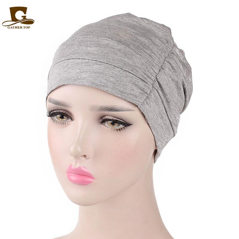 Womens Soft Comfy Chemo Cap And Sleep Turban Hat Liner For Cancer Hair Loss  Mens Beanies Custom Beanies From Zaonoodle 5ac086f1d82