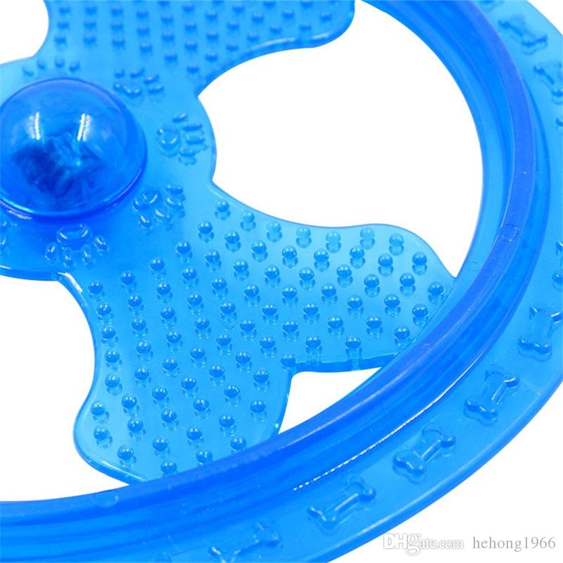 Originality Dog Training Tools TPR Luminescence Pet Frisbee Resistance Bite Dog Supplies Flying Disk Shape 10 2hz X