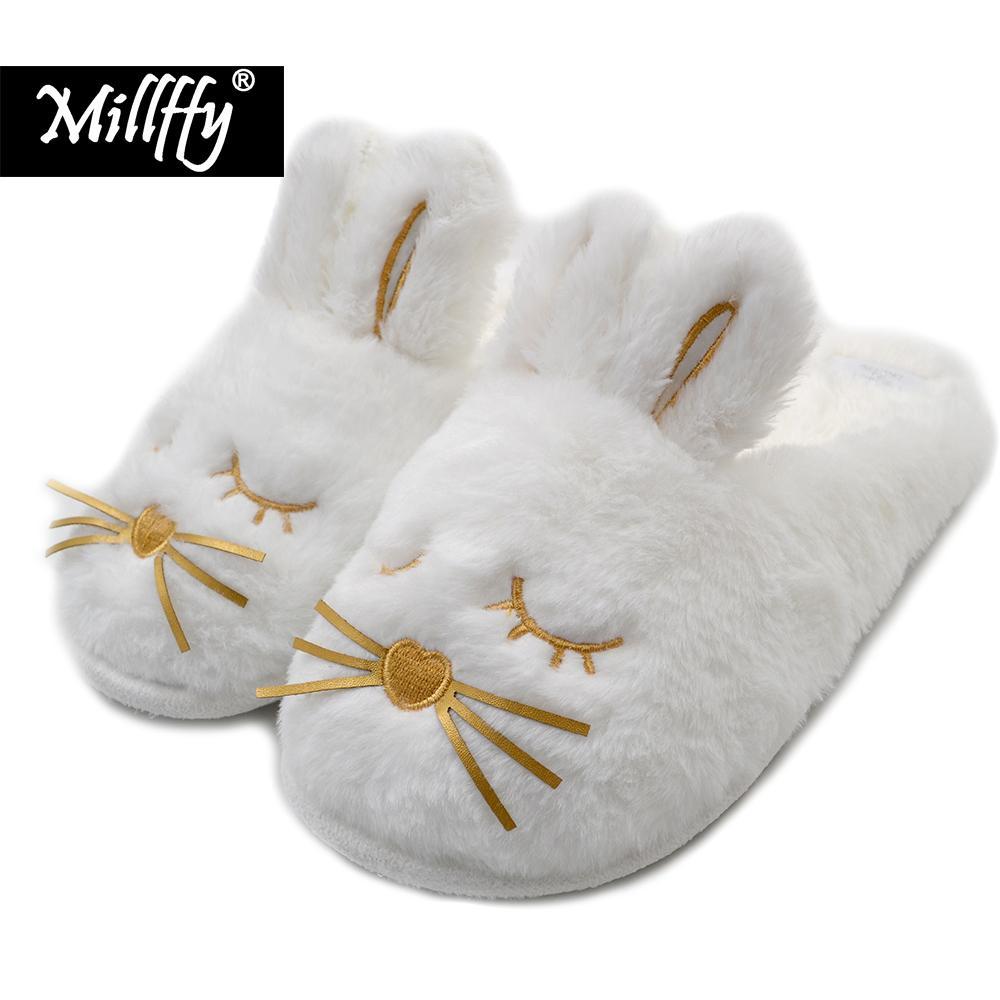 926a19ecbab Cute Bunny Fuzzy Slippers
