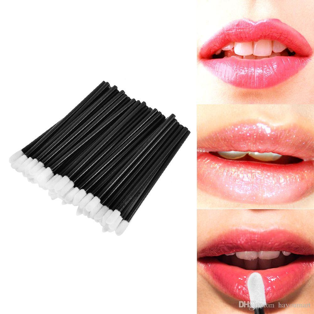 Monouso Lipbrush Lip Gloss Spazzole Bacchette Hollow Lipstick Gloss Applicatori Cosmetici Make Up Tool Sponge Spedizione gratuita