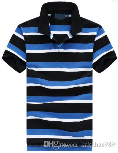 3b9993c5 Best Sell Men Striped Polo Shirt Camisa Masculina Men's Fred Polo ...