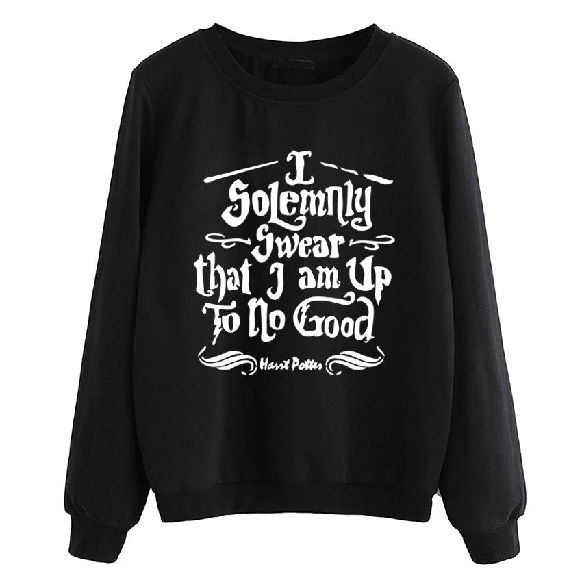 5418feebc 2019 I Solemnly Swear That I Am Up To No Good Sweatshirt Women 2018 Fall  Winter Fleece Pullovers O Neck Hoodies Top Hip Hop Tracksuit From Bida  Josh, ...
