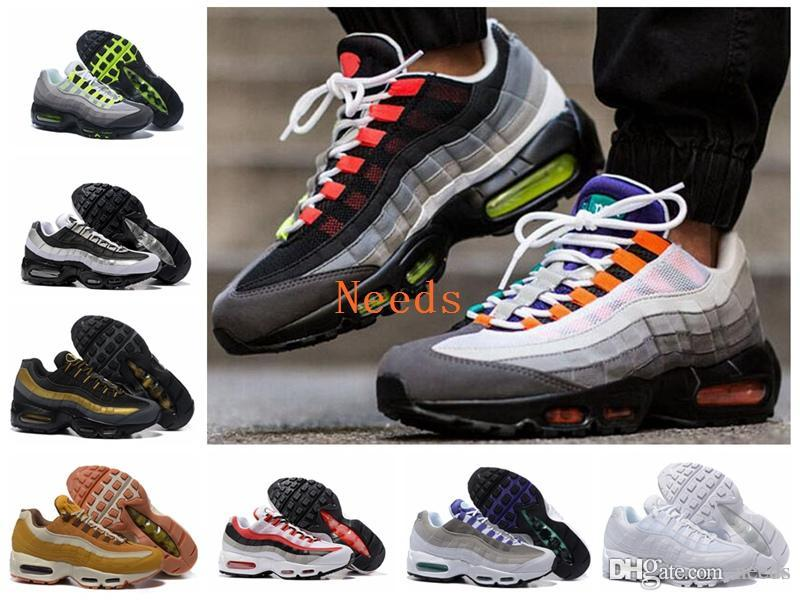 15be3bea4b 2018 New Ultra 20th Anniversary Brand 95 OG Sports Shoes Sports Running  Shoes For Men 95s Trainer Tennis Sneakers Size 40 46 Shoe Shopping Trainers  Shoes ...