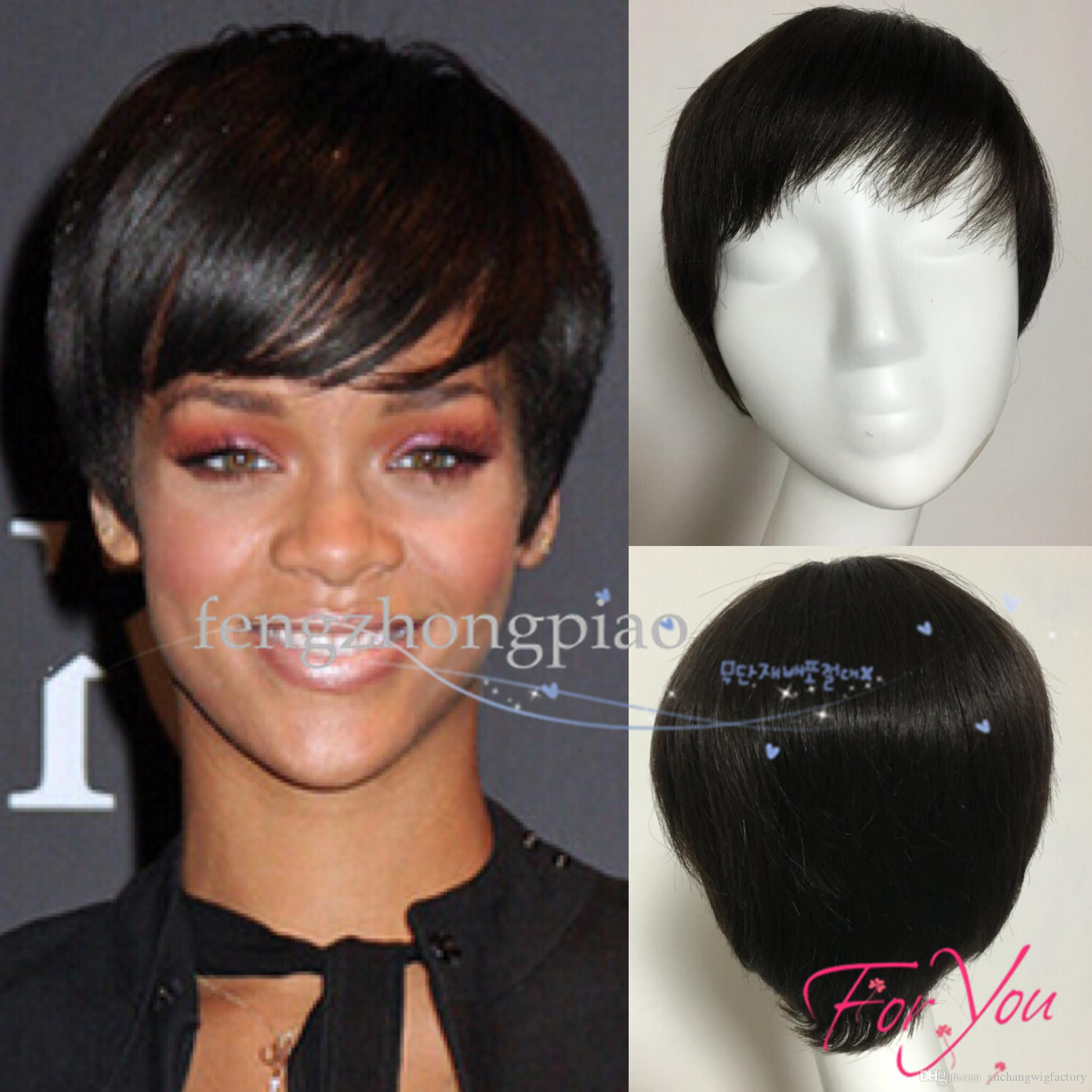 fengzhongpiao wigs for black women pixie cut short human hair wigs for  black women bob full lace front wigs with baby hair for africans
