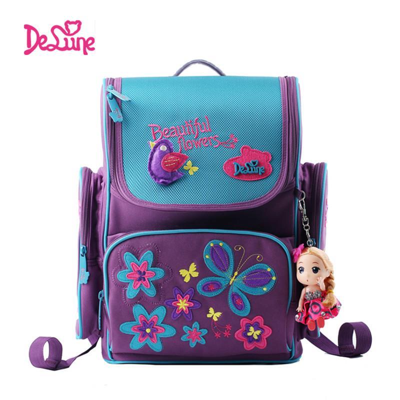 7f9530b7b Compre Delune Brand Kids Cartoon Mochilas Escolares Seguros Orthopaedic  Children School Mochila Para Niñas Mochilas Escolares Para 1 3 Grado Clase  ...