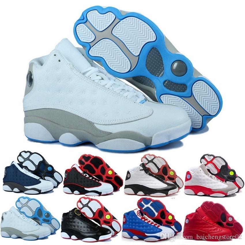 newest 21b26 e1fdb Großhandel Nike Air Jordan 13 Aj13 Retro 13 13s Herren Basketballschuhe 3m  Gs Hyper Royal Italien Blau Bordeaux Flints Chicago Bred Dmp Weizen Olive  ...