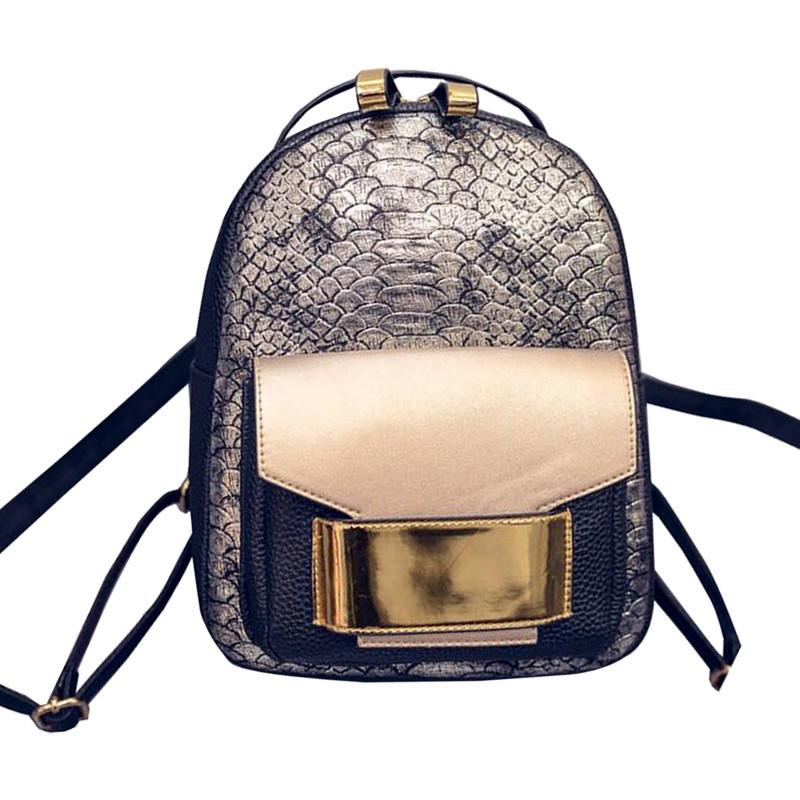 fd9392a64c 2018 New Snake PU Leather Women Backpack Female Fashion Rucksack Brand  Designer Ladies Back Bag High Quality School Bag For Girl Messenger Bags  For School ...