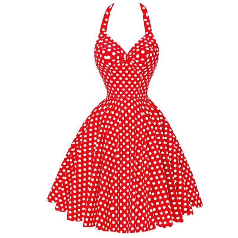 1cb7c9eef3c 2019 Audrey Hepburn Summer Dresses Women 2018 New Maggie Tang 50s 60s Robe Vintage  Retro Pin Up Swing Polka Dot Rockabilly Dress From Vickay