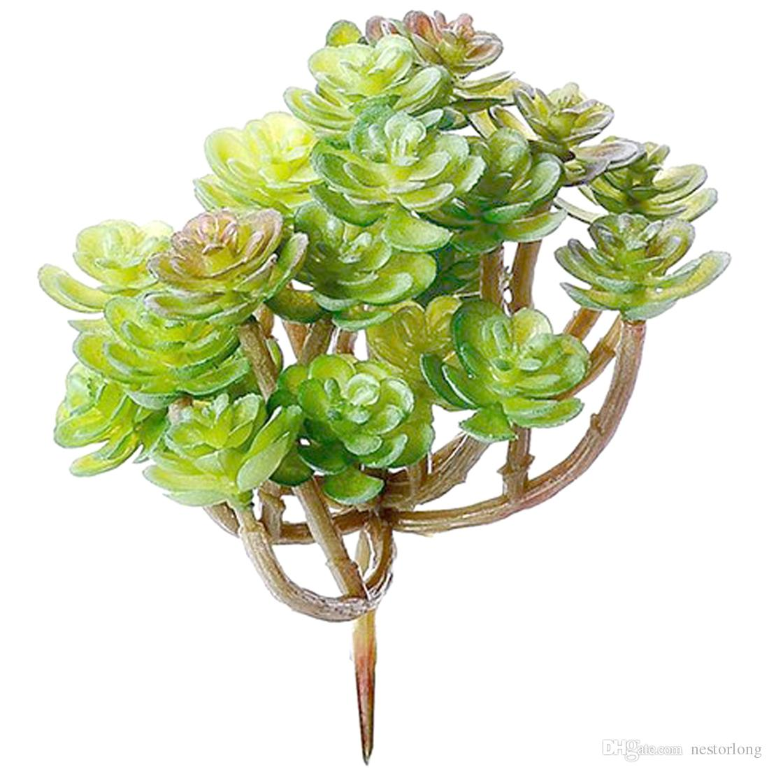 Fake Succulents Large Artificial Succulents and Cacti plants ornaments for Plants Wall Decoration DIY Materials wholesale