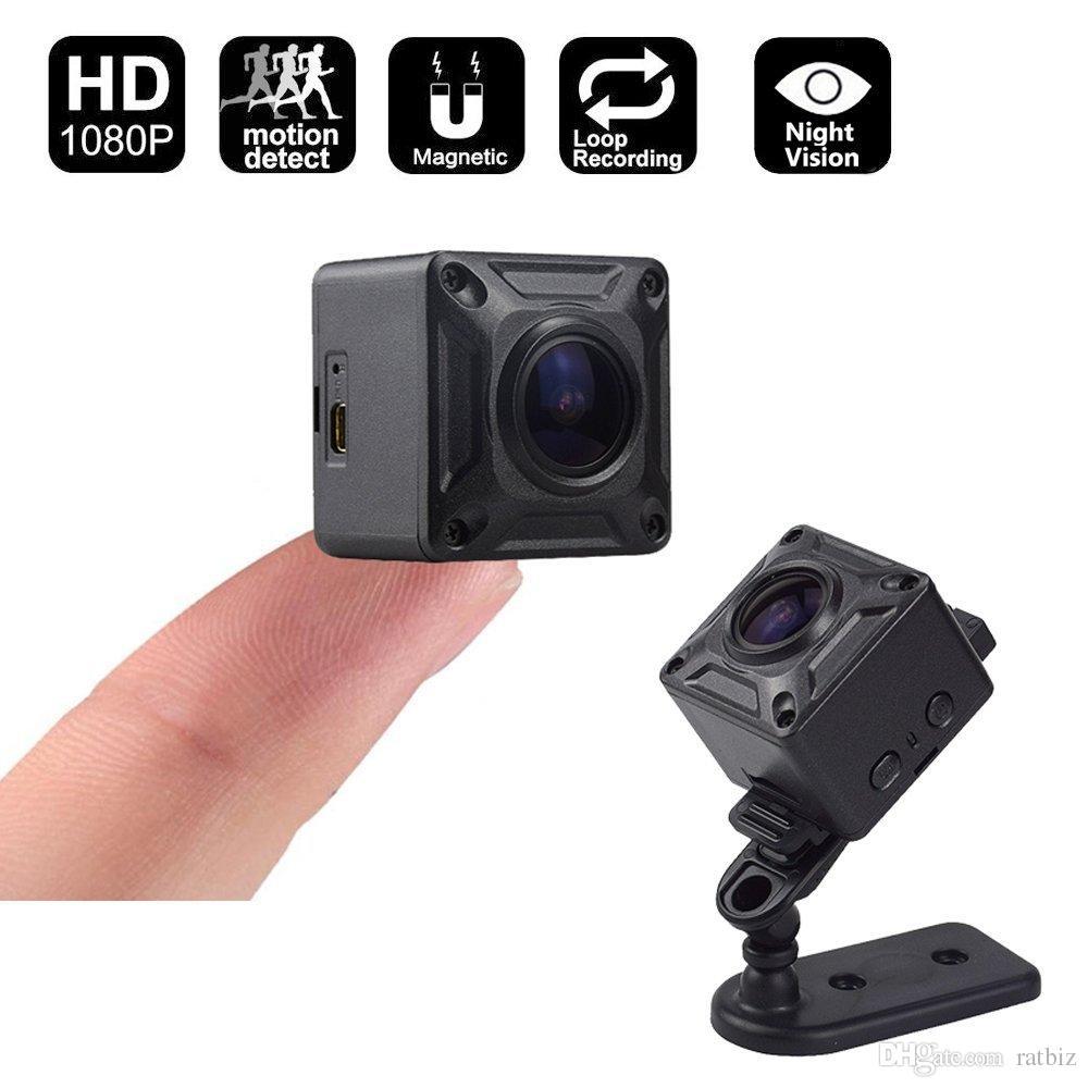 7f650dc55 Compre 16 GB De Memória De Ação Mini Câmera De 180 Graus Com 6 Layer Lens De  Vidro Full HD Vídeo 1080 P DV Esportes DVR Carro Micro Câmera Filmadora ...