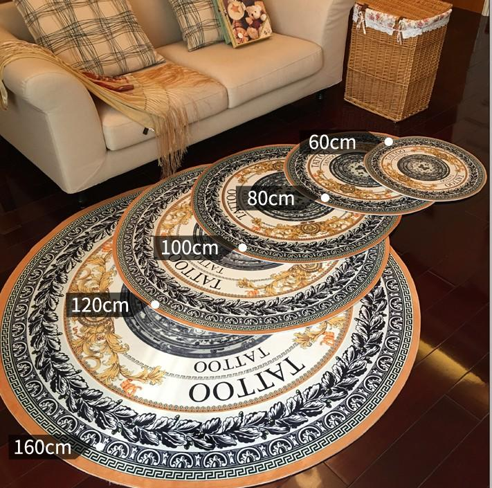 160cm Large Round 3D Carpet Modern Shaggy Rugs And Mat For Home ...