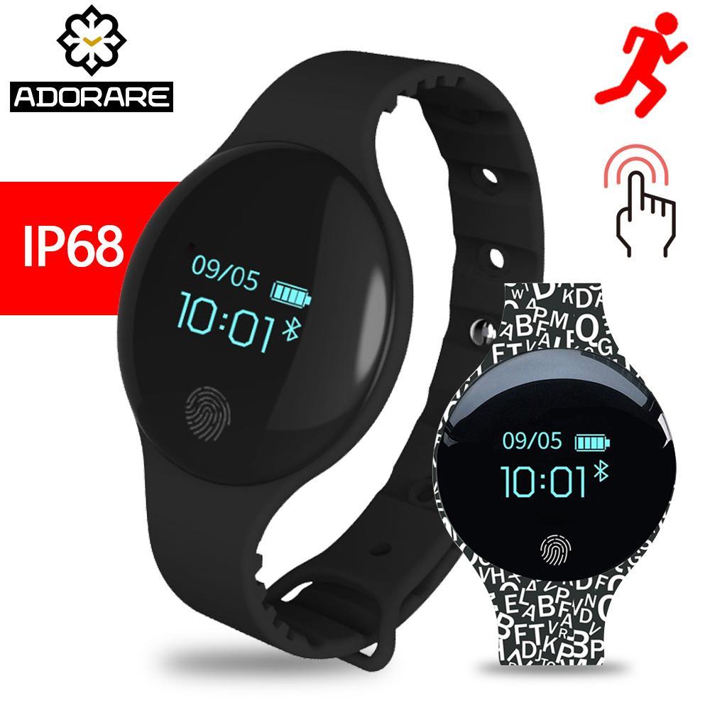 a590319ab08c Compre ADORARE H8 Reloj Inteligente Hombres Mujeres IP65 Pantalla Táctil  Impermeable Banda De Actividad Monitor Bluetooth Fitness Tracker Pulsera A   22.85 ...