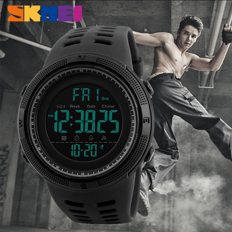c24f59264fb SKMEI Sport Electronic Watch Men Waterproof 50m Outdoor Digital Watches  Countdown Double Time Alarm Wristwatches Reloj Deportivo Online Watches Buy  Buying ...