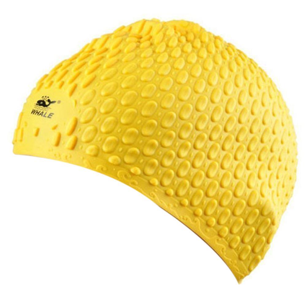 2019 Unisex Silicone Swim Cap Long Hair Cap Ear Wrap Waterproof Hat ... 798c46bbd24