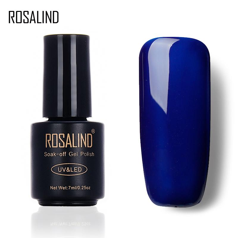 ROSALIND 7ML Popular Gel BLUE Color Series UV LED smalto per unghie smalto acrilico per smalto per unghie Art 2017 Fashion