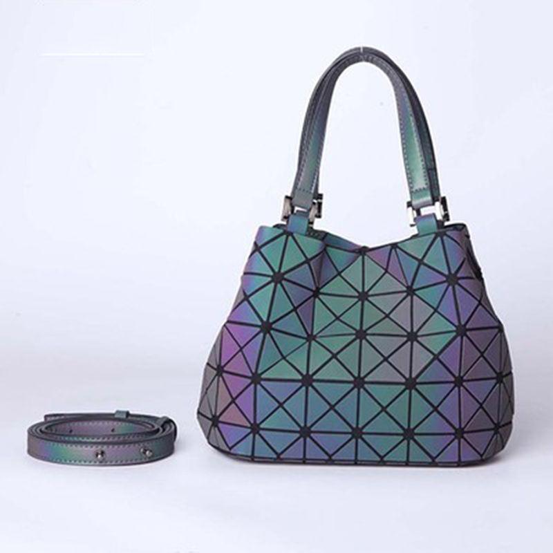 2018 Fashion Luminous Bao Women Bags Geometry Laser Folding Women Handbags  Casual Tote Ladies Shoulder Messenger Bag Female Shoulder Bags Cheap  Shoulder ... f5c16a999821c