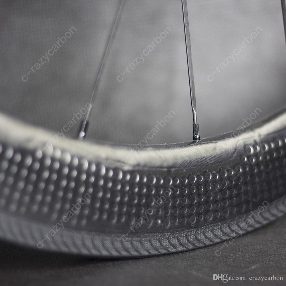 특수 브레이크 표면 디딤 탄소 휠 58mm 클린져로드 자전거 탄소 휠 700C로드 바이크