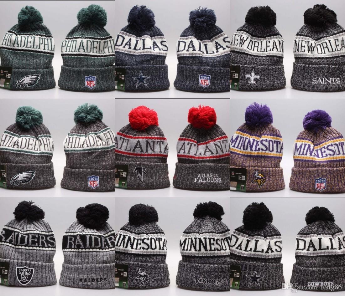 2018 Wholesale Winter Beanie Knitted Hats All 32 Teams L Football Beanies  Sports Team Cap Women Men Popular Fashion Winter Hat High Quality Beard  Beanie ... b243973075a