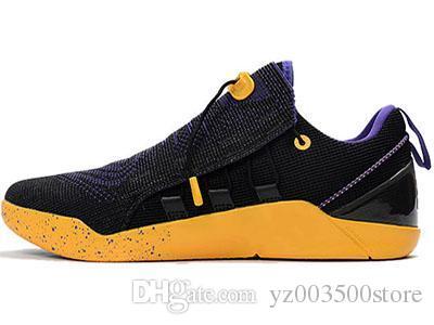 check out ae889 1fb42 Großhandel 2018 Neue Herren Nike Kobe A.D. Nxt 12 Männer Kb Volt Weiß  Schwarz Ad Wolf Grau Zoom Sportschuhe, Rabatt Günstige Basketball Schuhe  Größe 40 46 ...