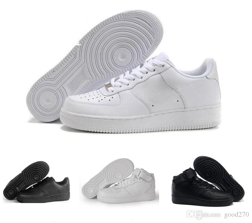 official photos 38e47 b1c8b Acheter Marque Discount Nike Air Force Low High One 1 Dunk Hommes Femmes  Flyline Chaussures De Course Sport Skateboard Ones Chaussures Low Low Cut  Blanc ...